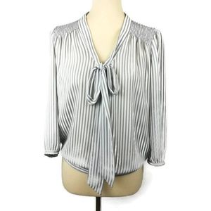 The Limited Women Stripes Blouse. Size M